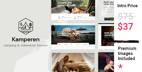 Kamperen - Camping and Adventure Tourism TFx ThemeFre