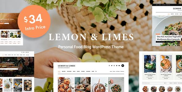 Lemon amp Limes - Food Blog WordPress Theme TFx ThemeFre