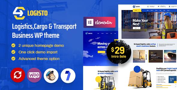 Logisto - Logistic and Cargo WordPress Theme TFx ThemeFre