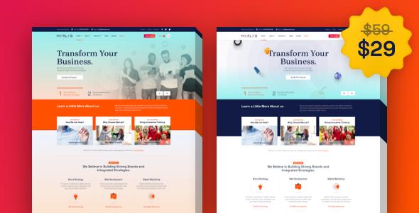 MarLab  Digital Solutions WordPress Theme TFx ThemeFre