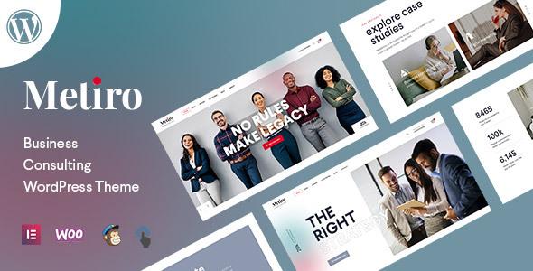 Metiro - Business Consulting WordPress Theme TFx ThemeFre