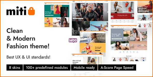 Miti - Elementor WooCommerce WordPress Theme TFx ThemeFre