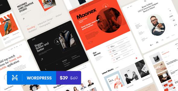 Moonex - Agency amp Portfolio WordPress Theme TFx ThemeFre