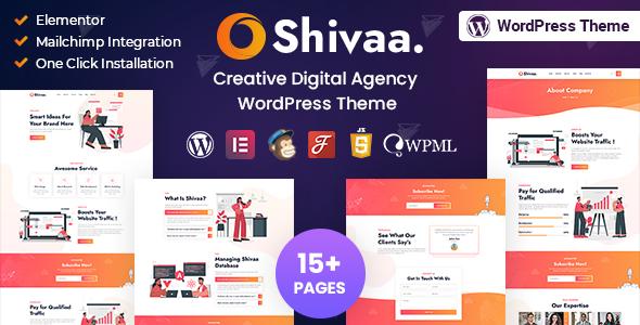 Shivaa - Multipurpose Agency Business WordPress Theme TFx ThemeFre