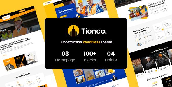 Tionco - Construction WordPress Theme TFx ThemeFre