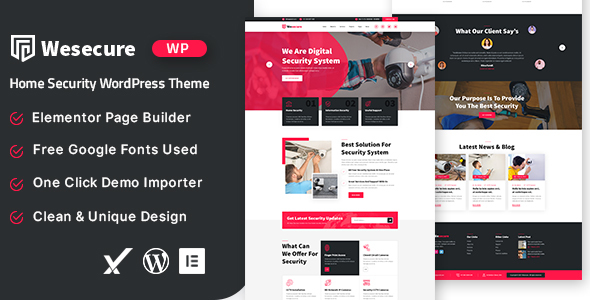 Wesecure  Home Security WordPress Theme TFx ThemeFre