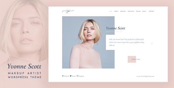 Yvonne - Makeup Artist WordPress Theme TFx ThemeFre