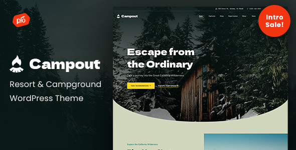 Campout - RV Resort amp Campground WordPress Theme TFx ThemeFre