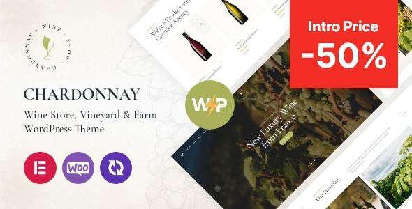 Chardonnay - Wine Store amp Vineyard WordPress Theme TFx ThemeFre