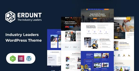 Erdunt - Industrial Business WordPress Theme TFx ThemeFre