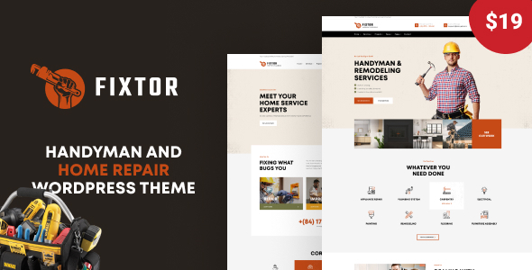 Fixtor - Handyman amp Home Repair WordPress Theme TFx ThemeFre