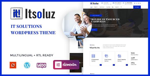 Itsoluz - IT Solutions WordPress Theme TFx ThemeFre