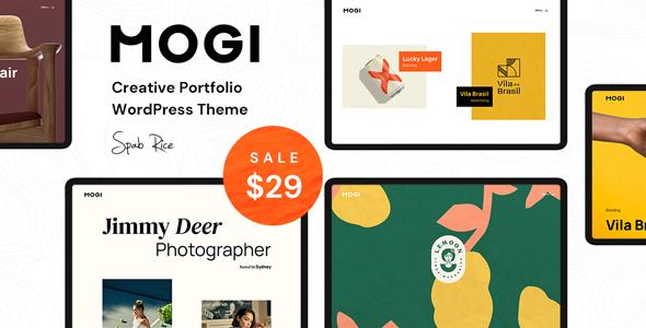 Mogi - A Creative Portfolio  Agency WordPress Theme TFx ThemeFre