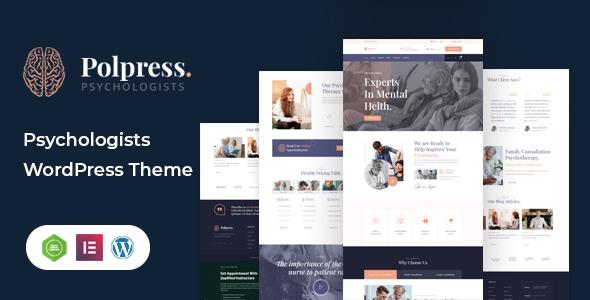 Polpress  Psychiatric therapy WordPress Theme TFx ThemeFre