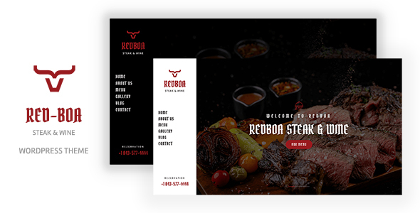 Redboa - Steakhouse Restaurant WordPress TFx ThemeFre