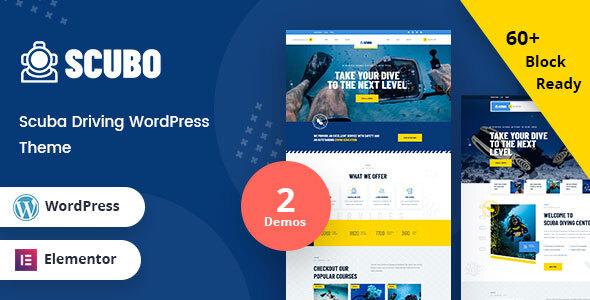 Scubo - Scuba Diving Centre WordPress Theme TFx ThemeFre
